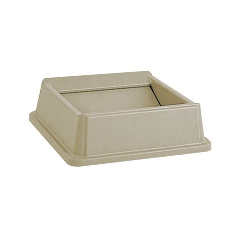 trash can swing lid rubbermaid commercial products untouchable 35 and 50 gal