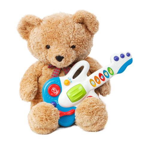 teddy bear with a guitar free stock photo public domain
