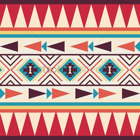 tribal pattern template seamless tribal pattern vector image 1621363