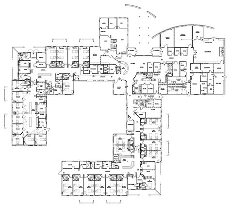 floor plan hospital hospital layout plan szukaj w google architecture