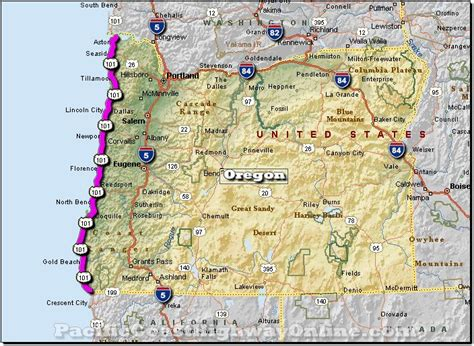 Pch Road Trip Map - road map of oregon coast coast highway in oregon state is technically known as