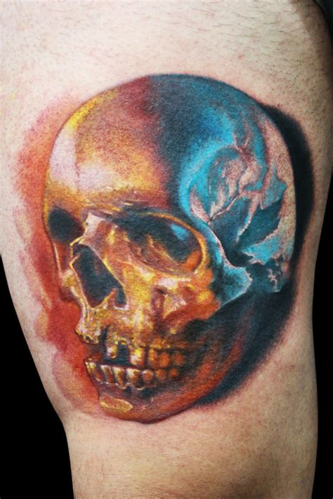 colorful skull tattoos colourful realistic skull tattooimages biz