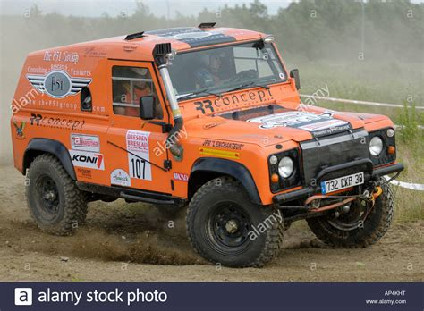 racing land rover custom built land rover defender racing at the rallye