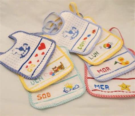 disegni a punto croce per cucina bavaglini a punto croce per neonati con gli schemi facili