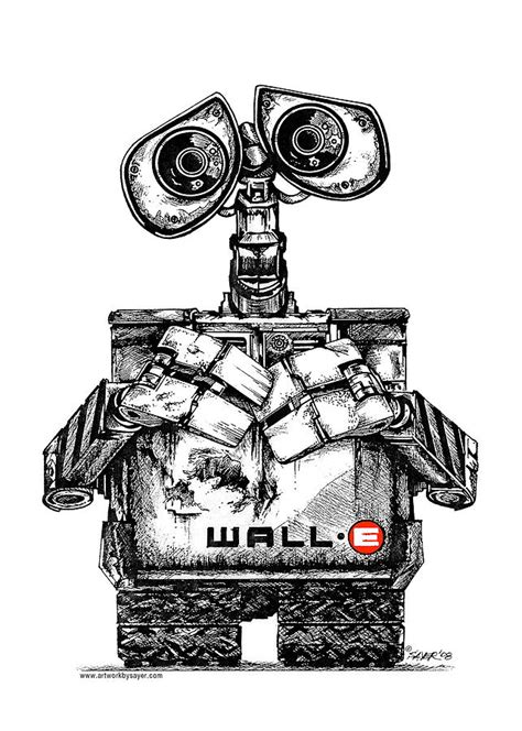 Wall E Sketches by Wall E By Sayer