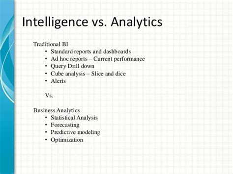 analytics business intelligence algorithms and statistical analysis books business intelligence vs business analytics