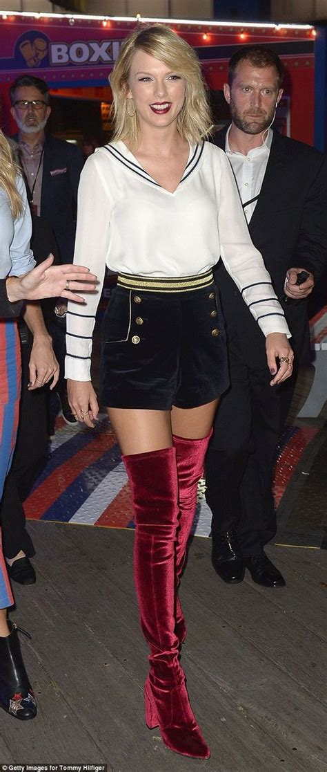 Taylor Swift Red Velvet Thigh High Boots Newhairstylesformen2014 Com | pinterest the world s catalog of ideas