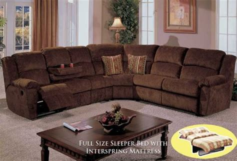 Sectional With Recliner And Bed 4pcs Sectional Fabric Bed Recliner Sofa Bq S096p1