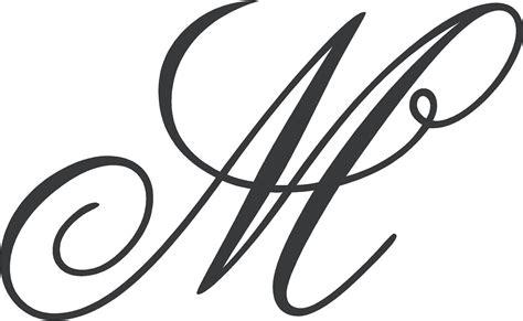 fancy cursive letter m kc garza