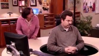 parks and recreation swanson and the swivel chair