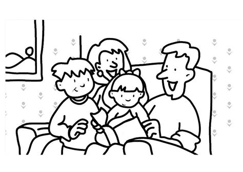 young family coloring page coloring pages