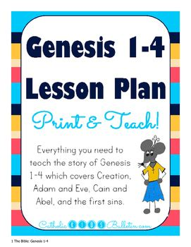 Genesis 1 4 Lesson Plan Powerpoint Guided Notes Review