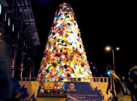 consumerist christmas tree uses 2 000 plastic bags to make
