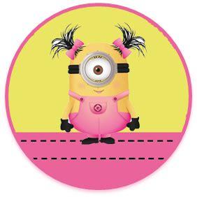 imagenes de minions rosa kit imprimible candy bar minions nena para cumplea 241 os
