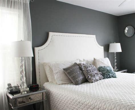 benjamin amherst gray walls bath diy upholstered headboard upholstered