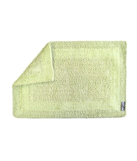 Reversible Cotton Bath Mats by Obsessions Green Reversible Cotton Bath Mat Buy