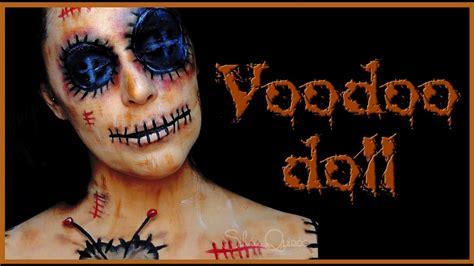 voodoo doll face paint makeup tutorial silvia quiros