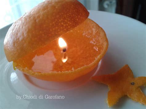 a candela come fare candela con la buccia di mandarino chiodi di