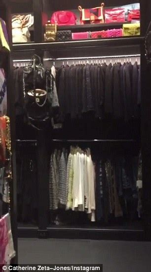 Incognito Closets by Catherine Zeta Jones Gives Tour Of Cavernous Closet Daily Mail