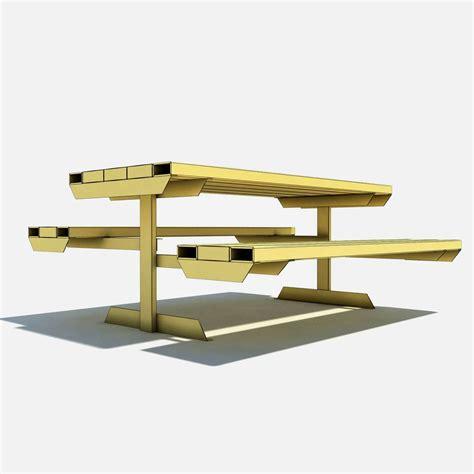 skate bench skate park bench 3d model