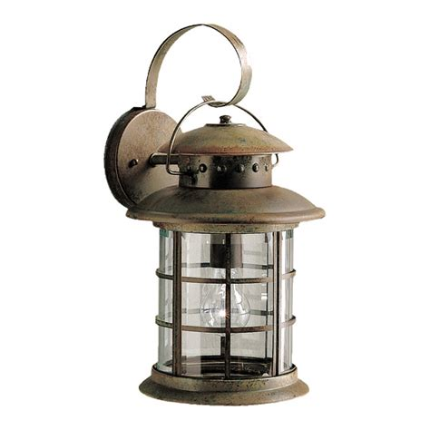 Rustic Outdoor Wall Lights Shop Kichler Rustic 17 75 In H Rustic Outdoor Wall Light At Lowes