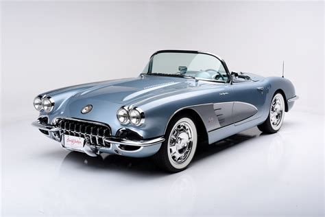 auto air conditioning service 1958 chevrolet corvette seat position control silver blue 1958 corvette with updated factory chassis