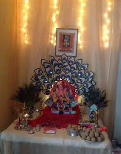 ganpati home decoration feathers home and at home on