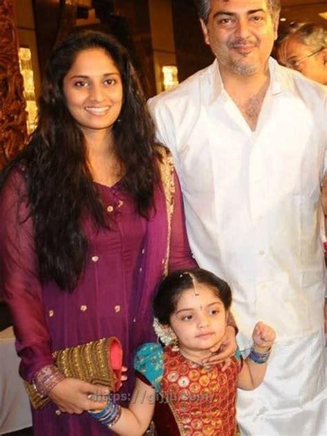 actor ajith and family actor ajith family photos thala ajith kumar and shalini