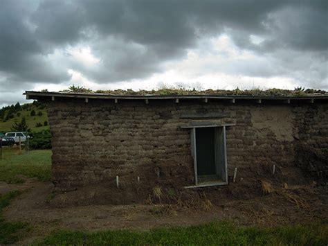 Sod House by A Nebraska Sod House