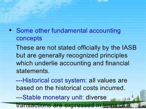 Mba Fundmentals Accounting Kaplan by Accounting Conventions Ppt Mba Finance