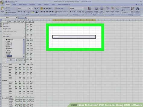 Can A Scanned Document Be Converted To Excel
