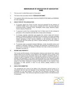 apartment association byelaws template