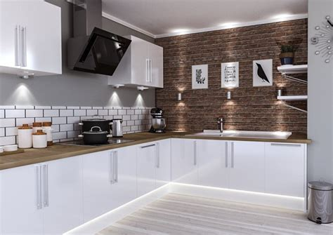 white gloss kitchen ideas lewes high gloss white kitchen doors made to measure