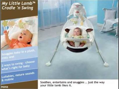 fisher price lamb swing manual my little lamb cradle n swing youtube