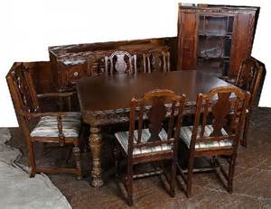 57 9 piece jacobean walnut dining room set lot 57 549 jacobean style 1920 s oak 8 pc dining room set wi