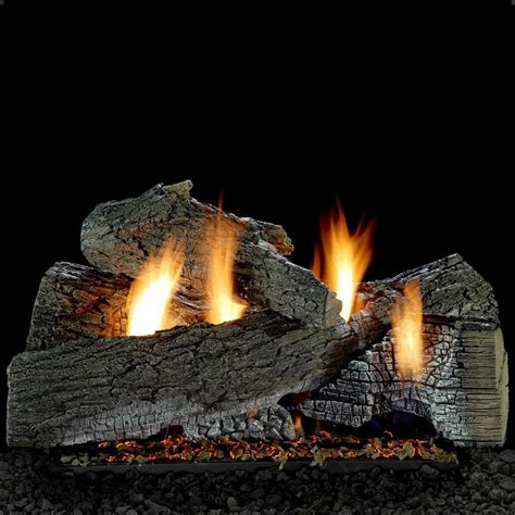 fireplace logs white mountain hearth by empire 30 inch wildwood gas log set with vent free gas ansi