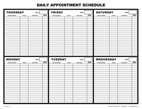 printable monthly appointment calendar 7 day appointment calendar template calendar template 2016
