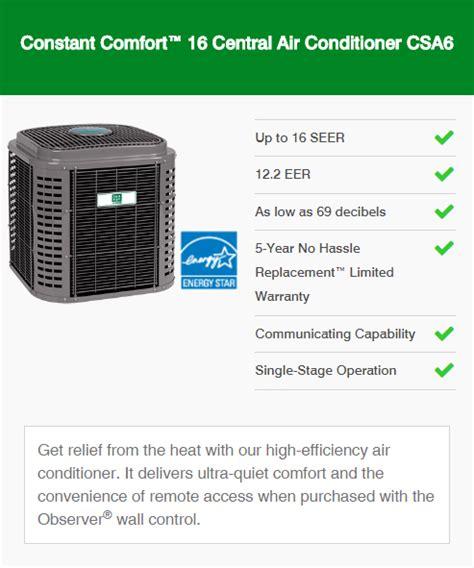 constant comfort heating and cooling air conditioners mesa az ac units phoenix arizona