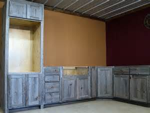 Barn Board Kitchen Cabinets Weathered Gray Barn Wood Kitchen Barn Wood Furniture Rustic Barnwood And Log Furniture By
