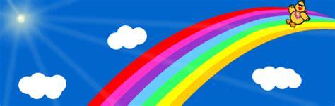 Animierte Natur Gifs: Regenbogen   Gif Paradies