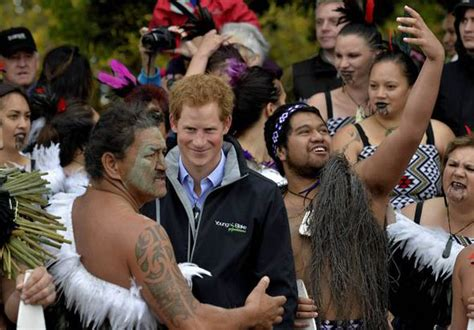 Royal Skirt Mauri 2 where did that come from prince harry in shock at maori s