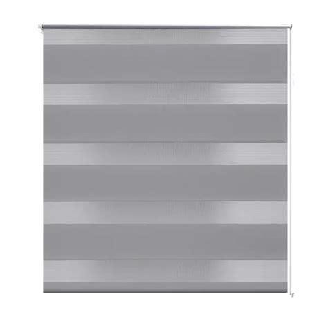 tenda rullo oscurante tenda a rullo oscurante zebra 100x175 grigia vidaxl it