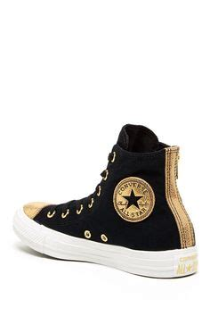 Zipper Dreambird by Converse All High Tops In Gold Metallic Leather We