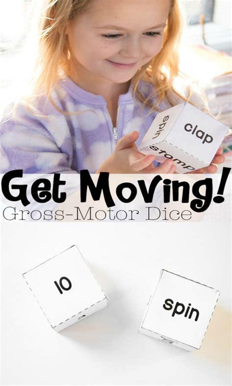 gross motor dice indoor activities