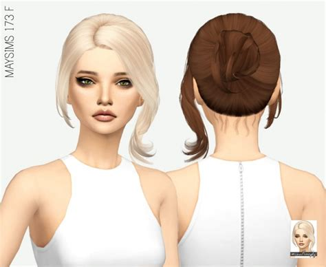 sims 4 hair miss paraply maysims 173 f hair retextured sims 4 downloads