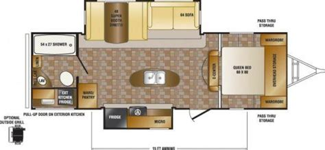 sunset trail rv floor plans 2014 crossroads sunset trail reserve 26rb travel trailer
