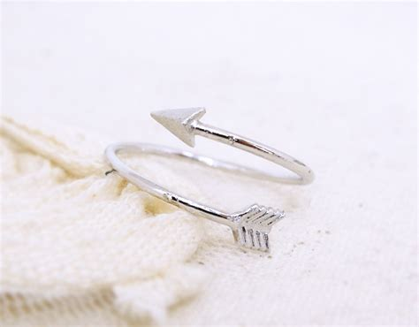 white gold arrow ring adjustable ring knuckle ring