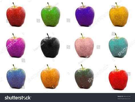 colored apple colored apples stock photo 46315720