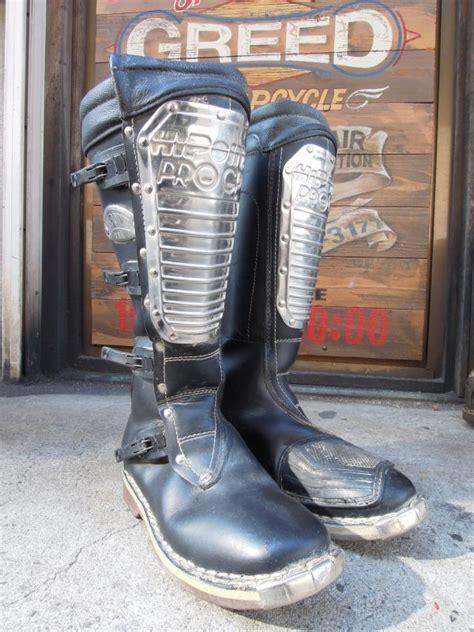vintage alpinestars  point pro gp motocross boots leather   italy  sixhelmets quality
