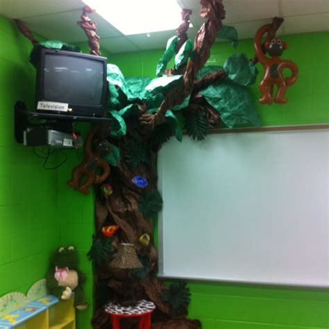 How To Make Rainforest Animals Out Of Paper - rainforest tree made out of butcher paper for a classroom